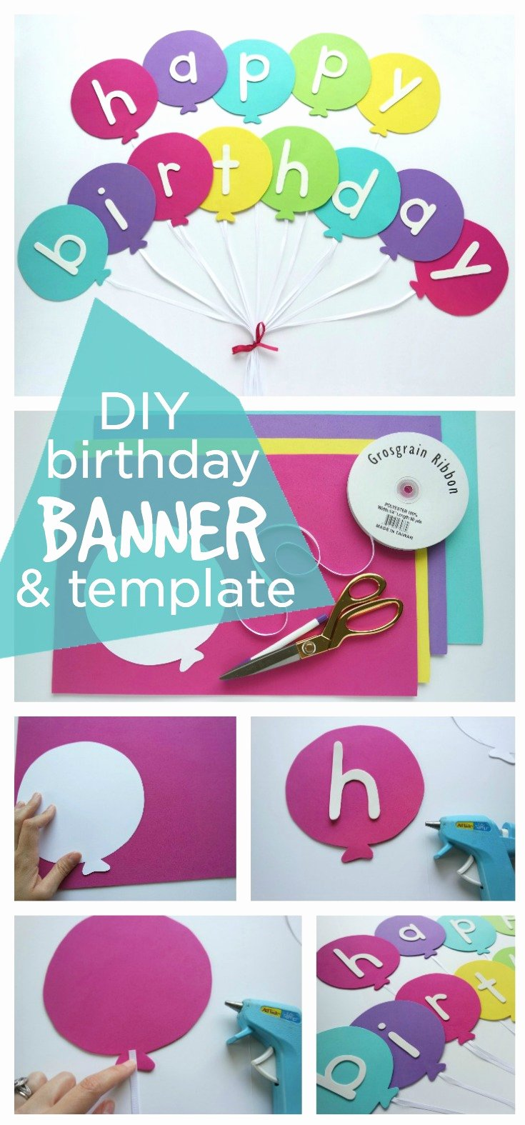 Happy Birthday Sign Template Lovely Happy Birthday Banner Diy Template