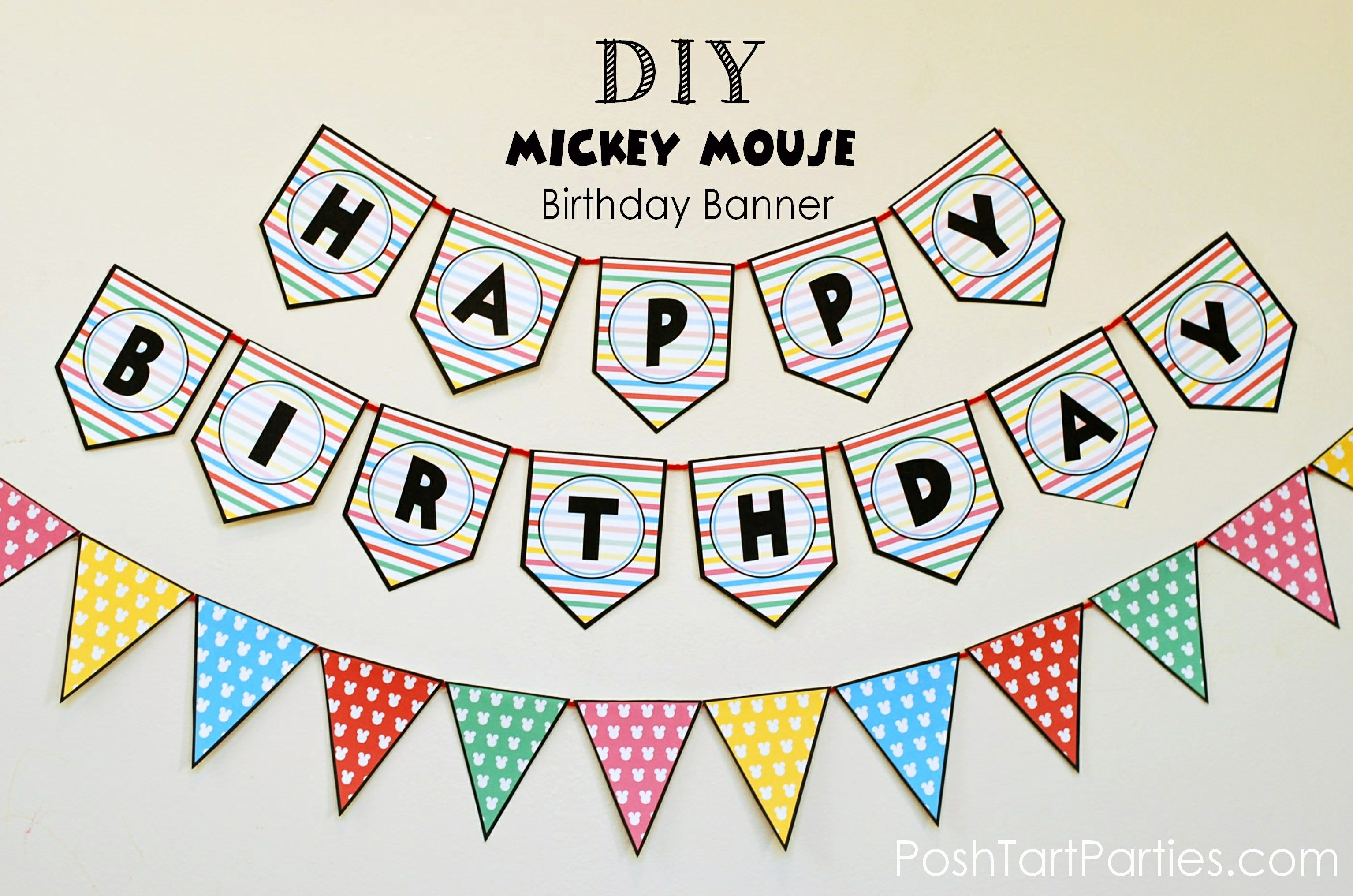 Happy Birthday Sign Template New A Mickey and Minnie Mouse Party – Free Printable Happy