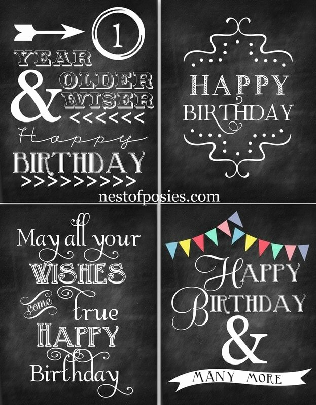 Happy Birthday Sign Template Unique 15 Free Birthday Printables I Heart Nap Time