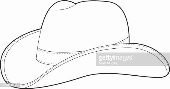 Hat Template Vector Awesome Cowboy Hat Outline