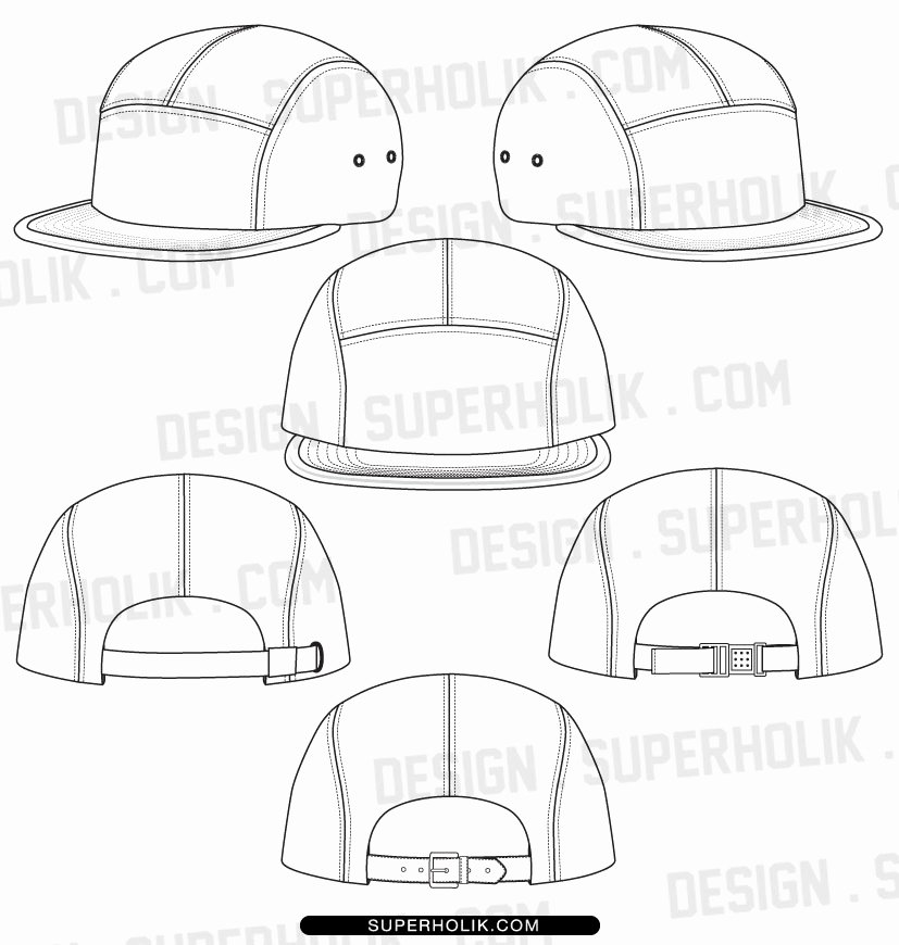 Hat Template Vector Awesome Fashion Design Templates Vector Illustrations and Clip