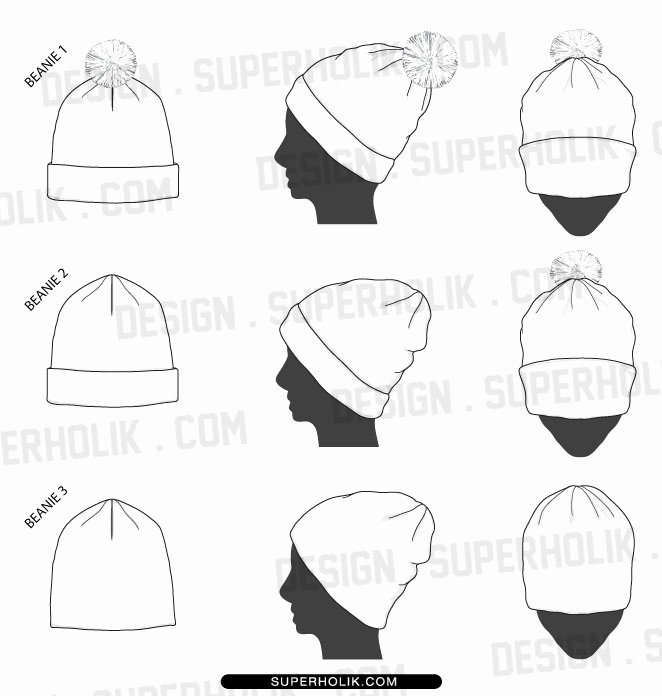 Hat Template Vector Beautiful Beanie Hat Template by Superholik On Deviantart