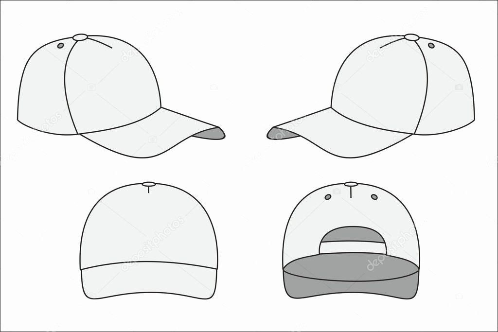 Hat Template Vector Beautiful Cap Template — Stock Vector © Chasiks