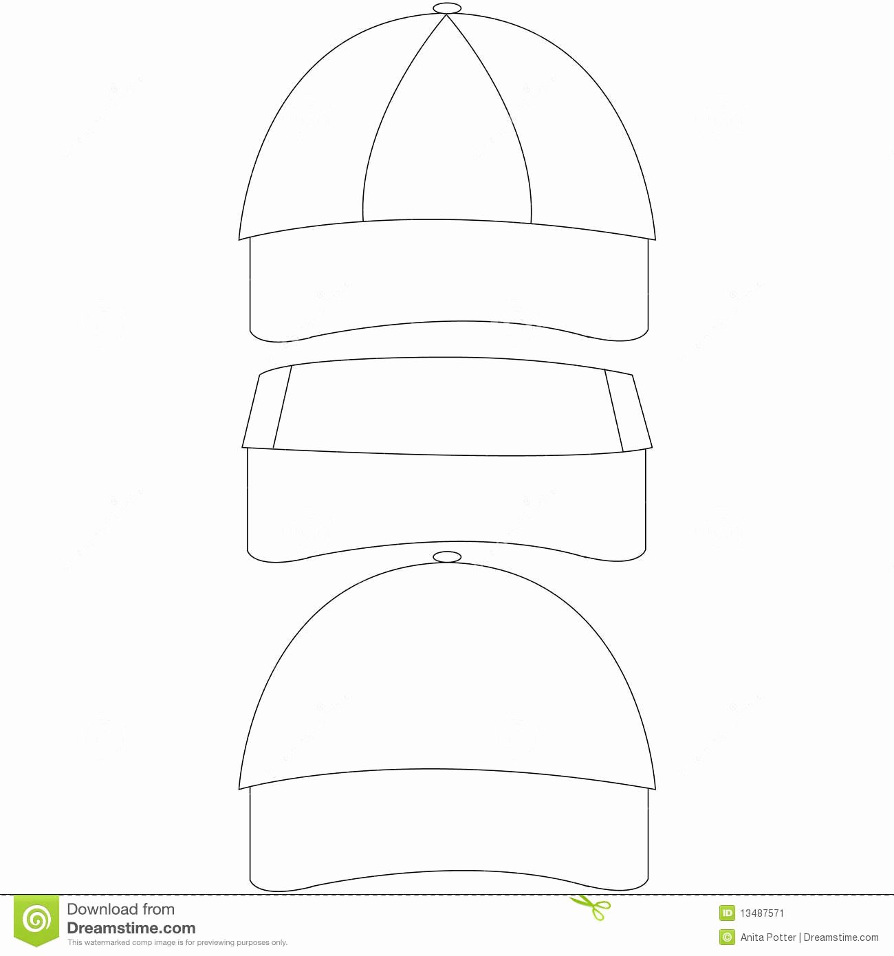 Hat Template Vector Best Of Set Of Blank Hat Templates Stock Vector Illustration Of