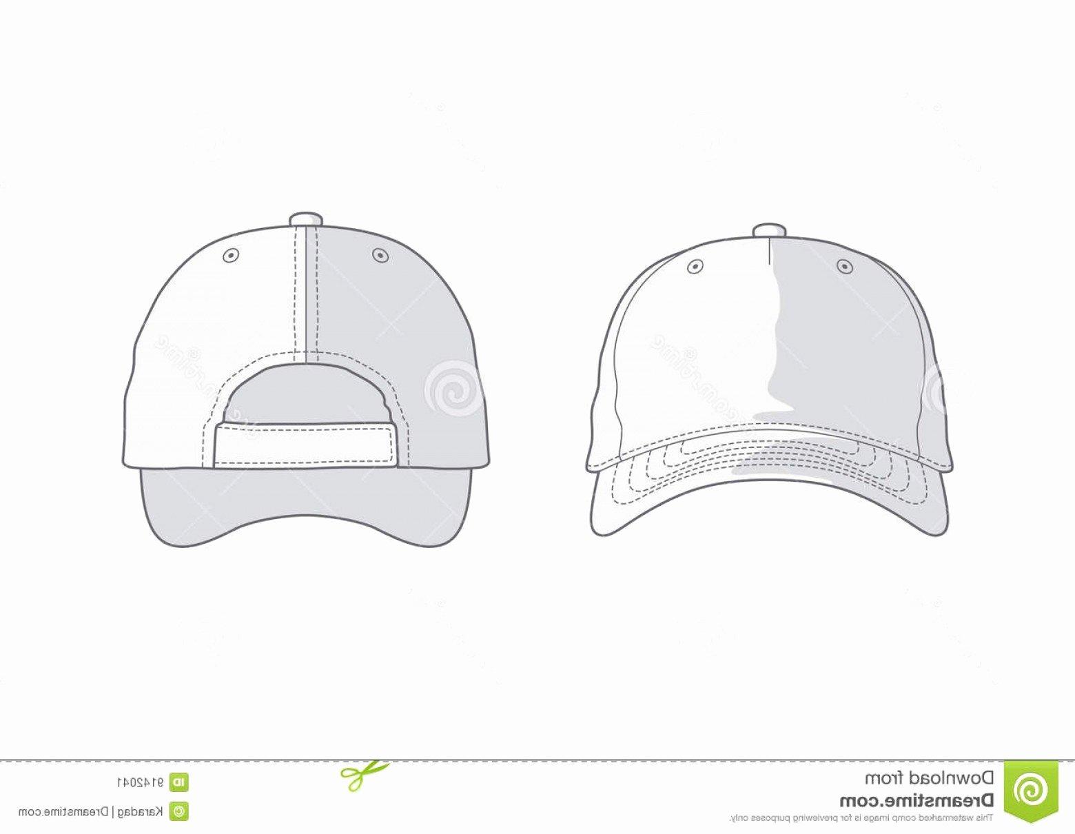 Hat Template Vector Elegant Baseball Cap Vector Art