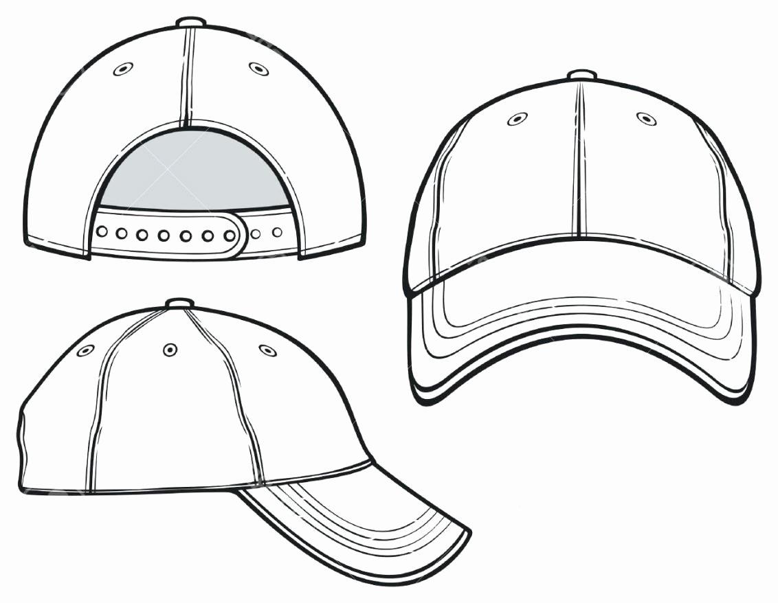 Hat Template Vector Elegant Hat Template
