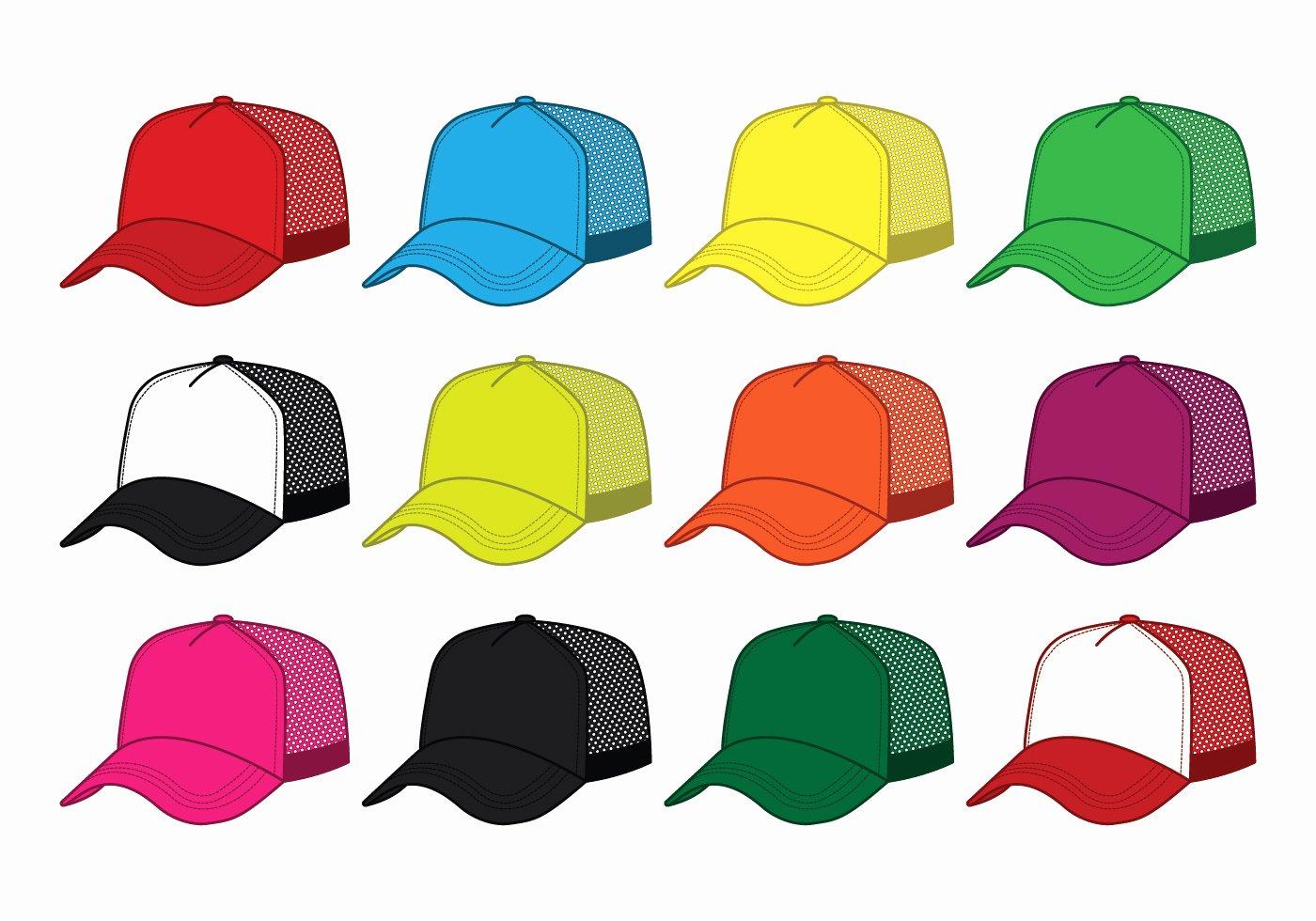 Hat Template Vector Inspirational Blank Trucker Hat Vector Download Free Vector Art Stock