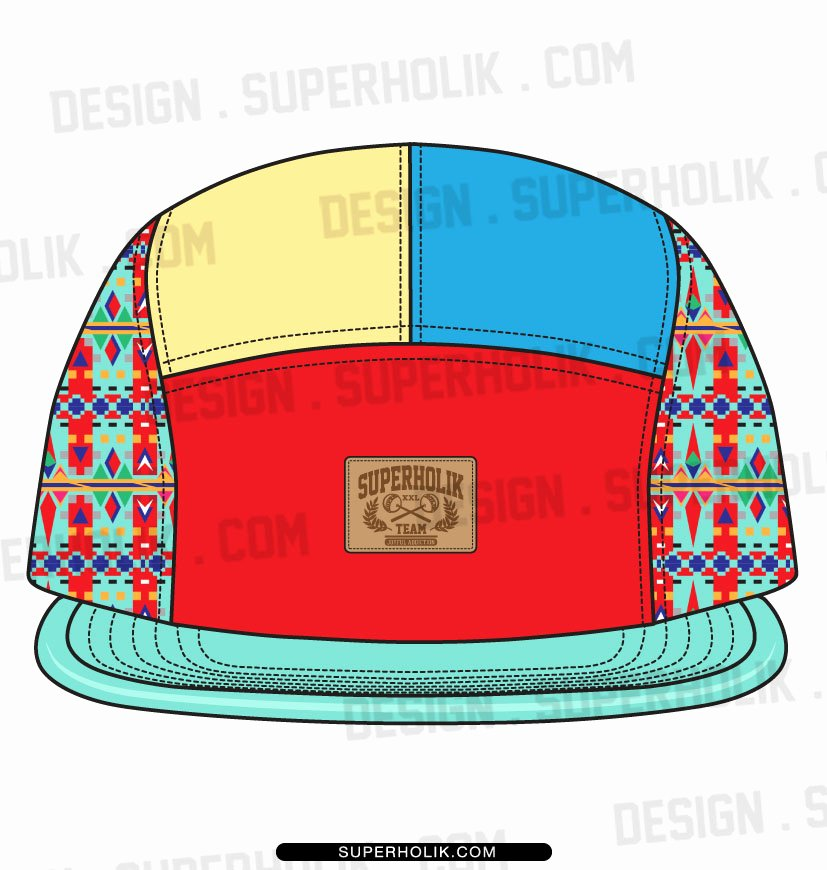 Hat Template Vector Lovely 5 Panel Hat Template