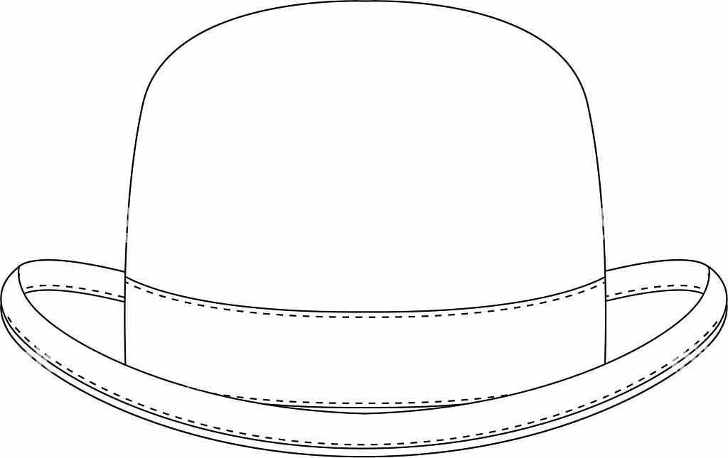 Hat Template Vector Lovely Classic Bowler Hat Template Stock Vector Art & More