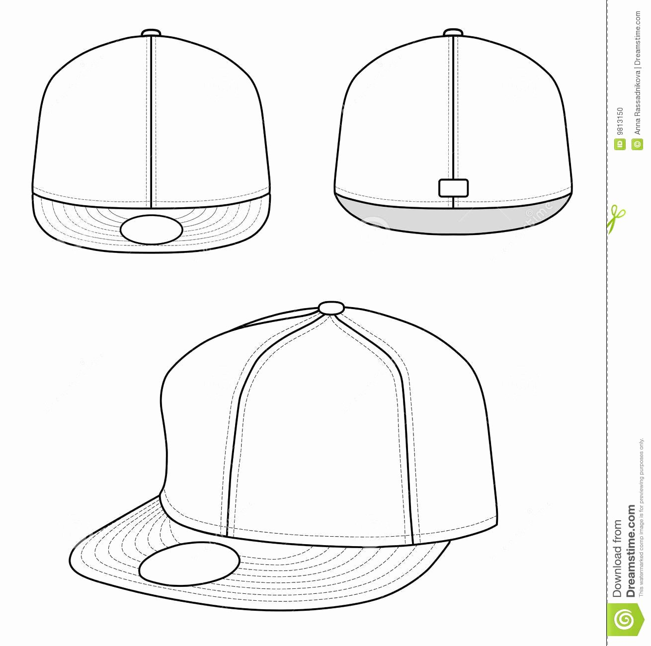 Hat Template Vector Lovely Rap Cap Stock Vector Illustration Of Clip Clothing