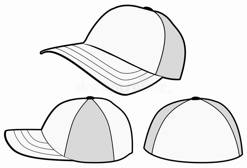 Hat Template Vector Luxury Baseball Hat Cap Vector Template Royalty Free Stock