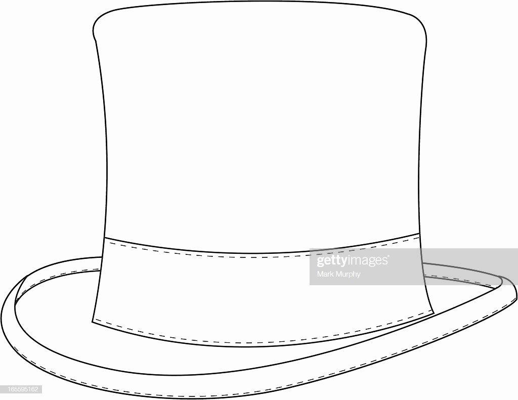 Hat Template Vector New Classic top Hat Template Vector Art