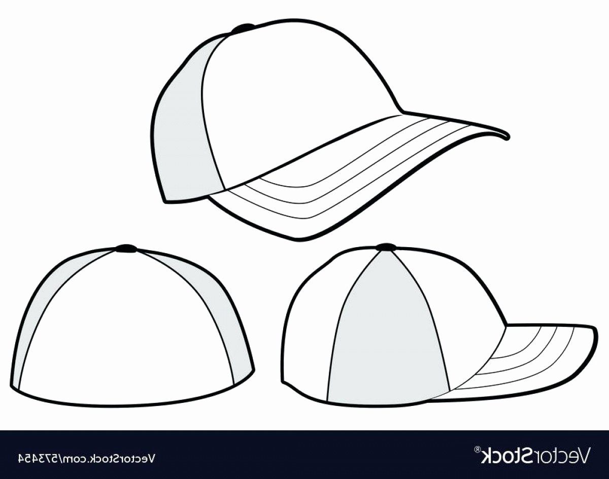 Hat Template Vector New Snapback Vector Template