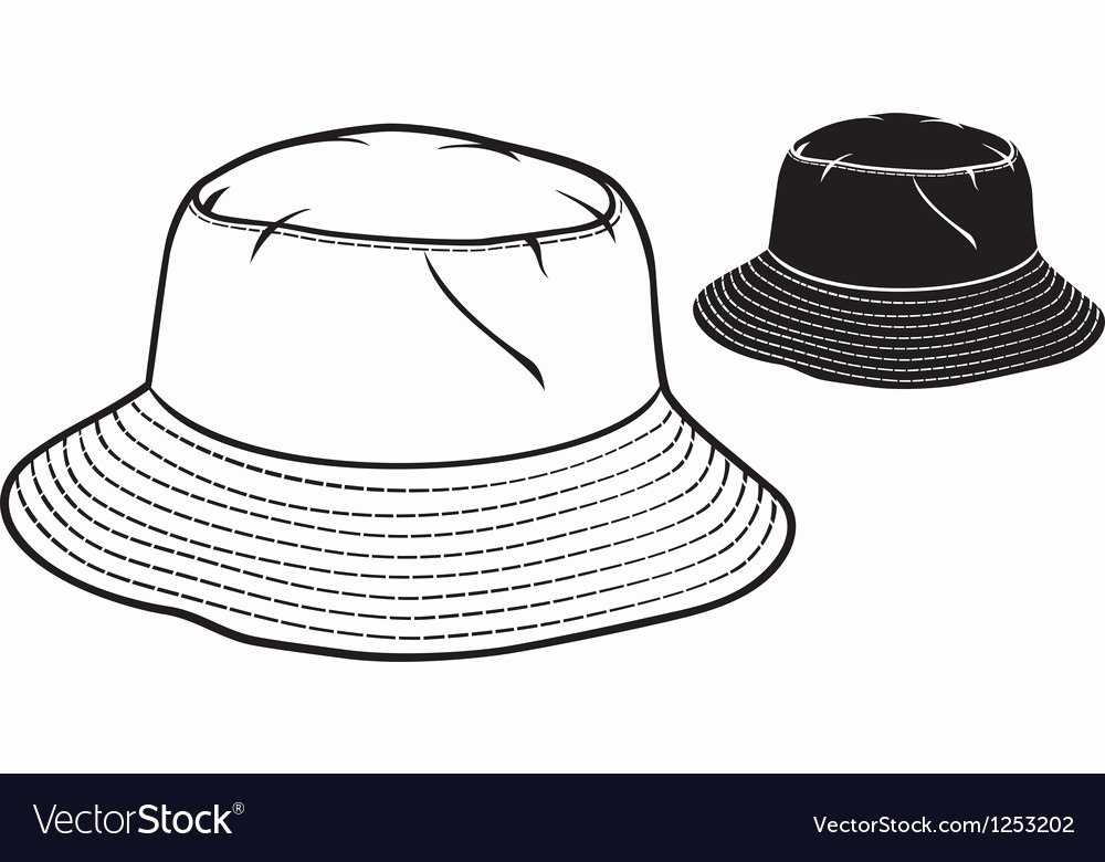 Hat Template Vector Unique Bucket Hat Collection Royalty Free Vector Image