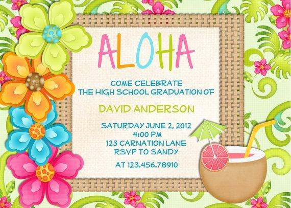 Hawaiian themed Invitation Templates Free Awesome Hawaiian Party Invitations Free Printable