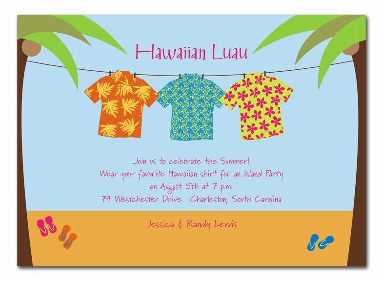 Hawaiian themed Invitation Templates Free Elegant Aloha Shirt Invitations