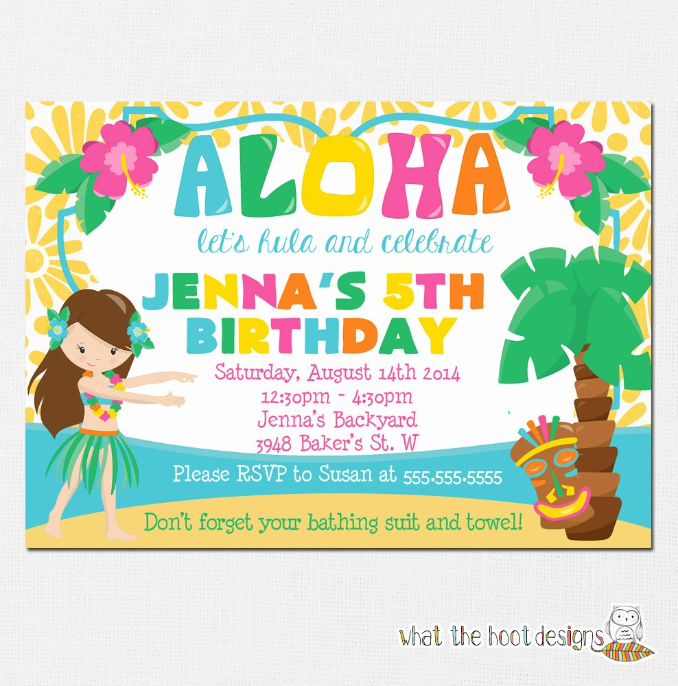 Hawaiian themed Invitation Templates Free Inspirational Luau Invitation Luau Birthday Party Luau Pool Party