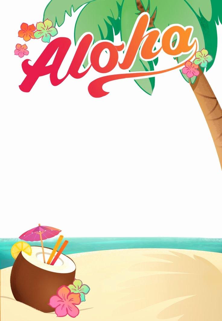 Hawaiian themed Invitation Templates Free Inspirational Luau Party Free Printable Summer Party Invitation