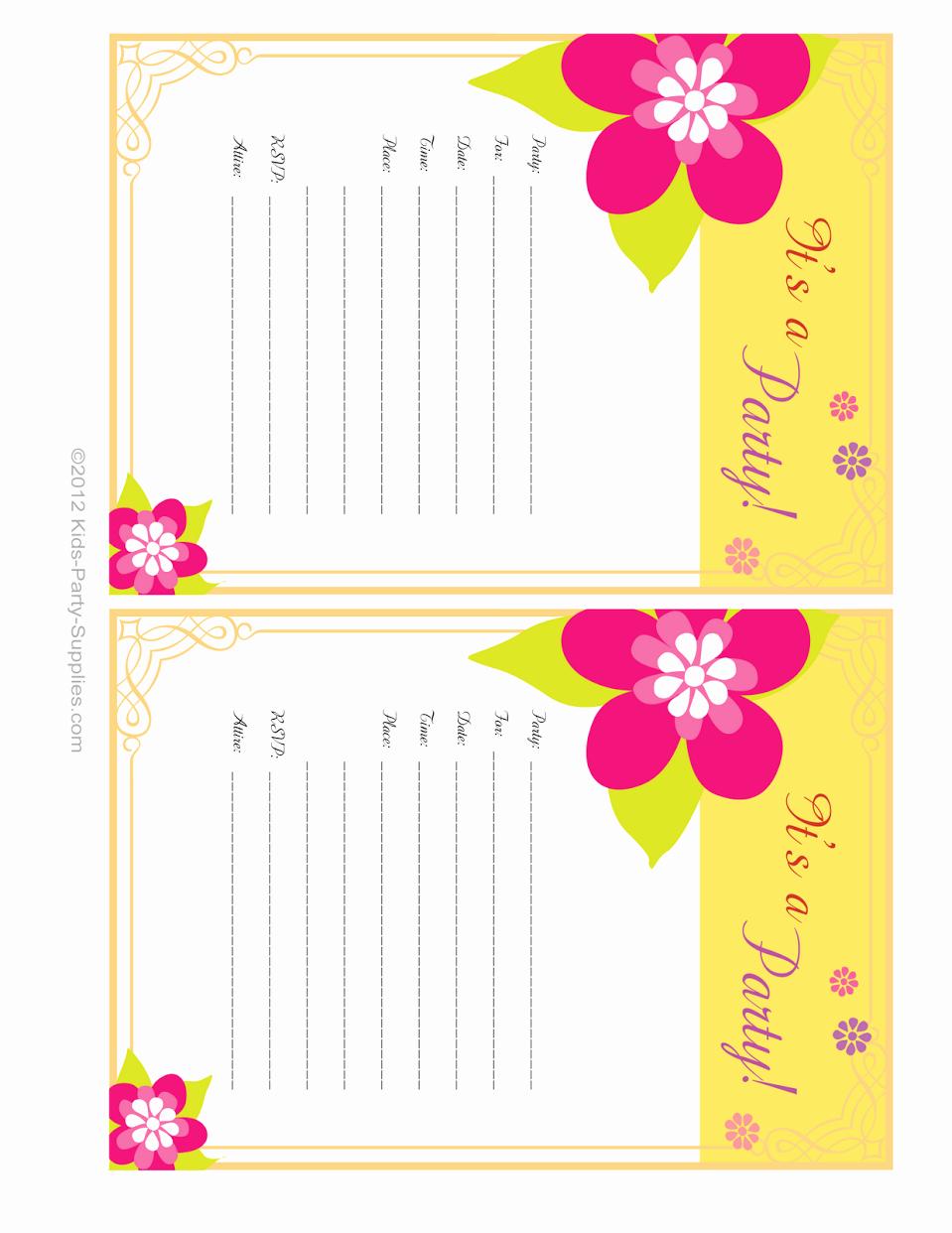 Hawaiian themed Invitation Templates Free Unique Hawaiian Party Invitations Free Printable