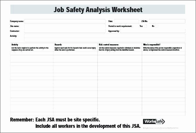 Hazard Analysis form Awesome Example Job Hazard Analysis form