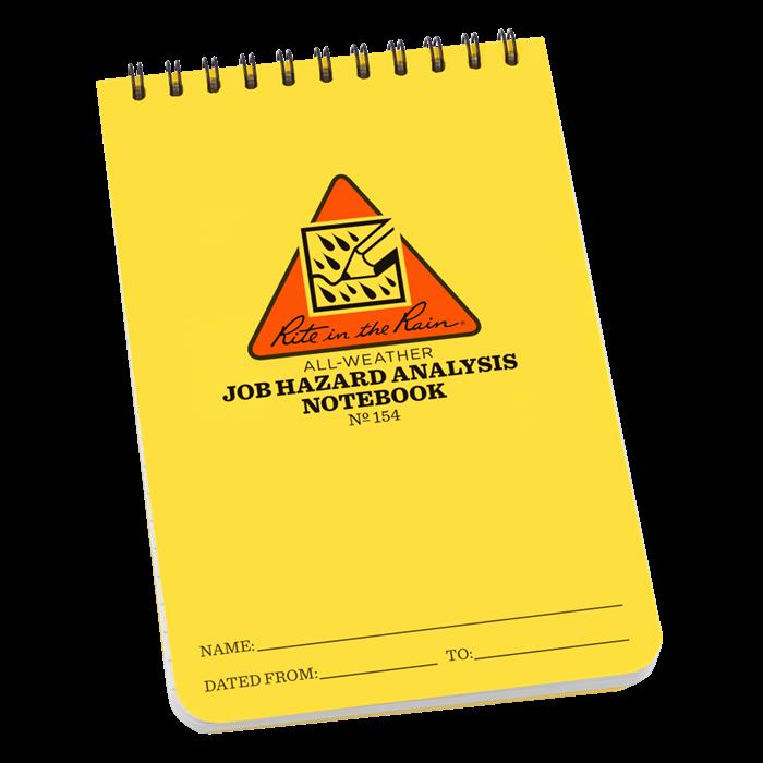 "Hazard Analysis form Inspirational Rite In the Rain Job Hazard Analysis forms Polydura 4"" X 6"""