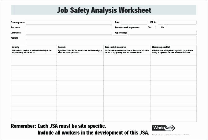 Hazard Analysis form Luxury 20 Awesome Deliberate Risk assessment Worksheet