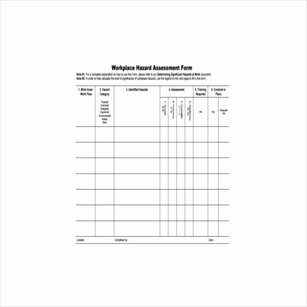 Hazard Analysis form New 5 Hazard assessment form Templates Pdf