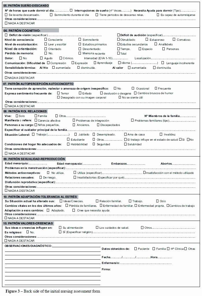 Head to toe assessment Template Inspirational 15 Nursing assessment form