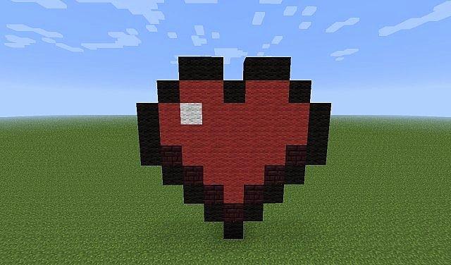 Heart Minecraft Banner Elegant tons Pixel Art Minecraft Project