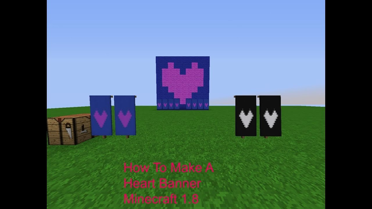 Heart Minecraft Banner Unique How to Make A Heart In Minecraft Banners
