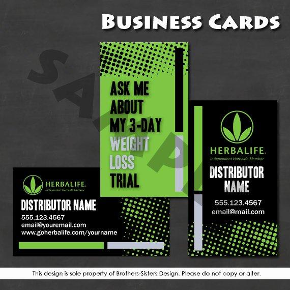 Herbalife Flyer Sample Beautiful Herbalife Business Card Digital Download by