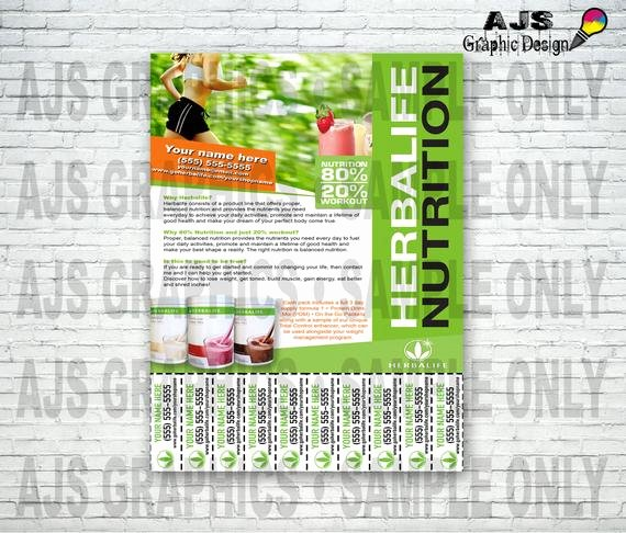 Herbalife Flyer Template Luxury Custom Print Ready Herbalife Contact Flyer • Herbalife