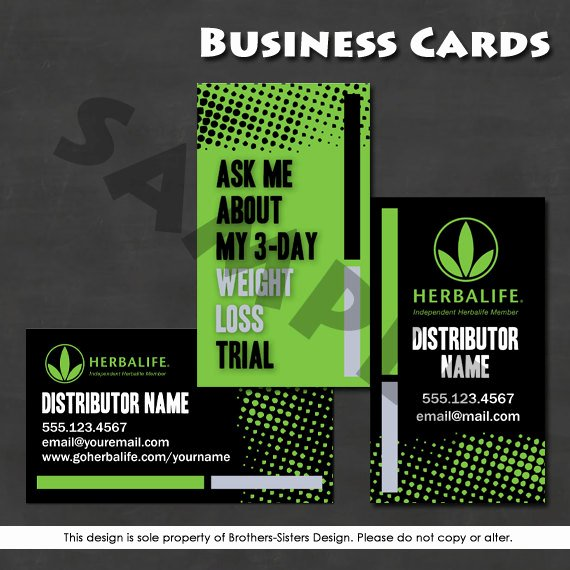 Herbalife Flyer Template Unique Herbalife Business Card Digital Download by