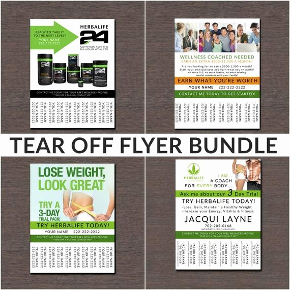 Herbalife Flyer Templates Beautiful Herbalife Tear F Flyer Bundle by Wackyjacquisdesigns On Etsy