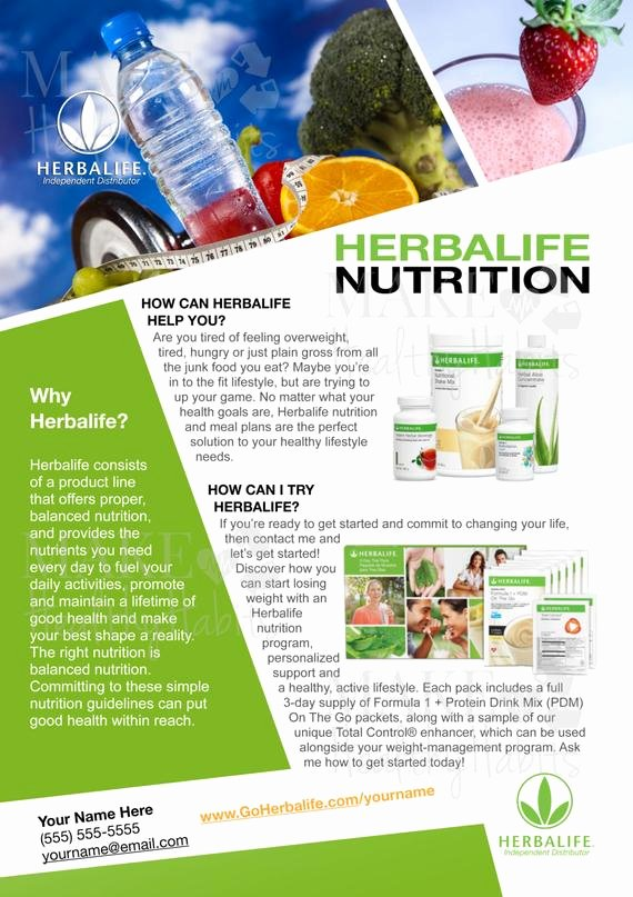 Herbalife Flyers Template Inspirational Printable Herbalife Flyer by Kellylynnettedesigns On Etsy