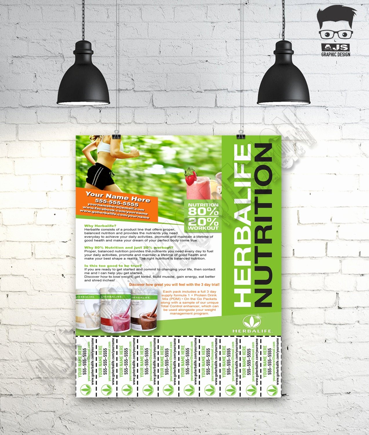 Herbalife Flyers Template Luxury Custom Print Ready Herbalife Contact Flyer by Ajsgraphdesign