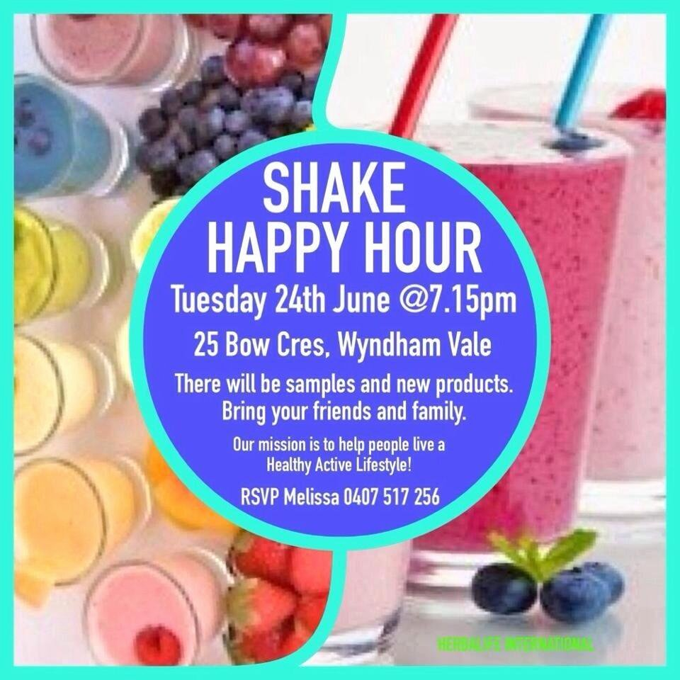 "Herbalife Shake Party New Werribee Fit Club On Twitter ""shake Party Happy Hour"