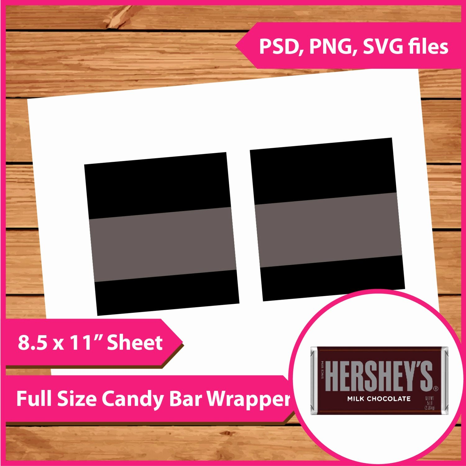 Hershey Bar Wrapper Dimensions Fresh Instant Download Hershey Candy Bar Wrapper Template Psd Png
