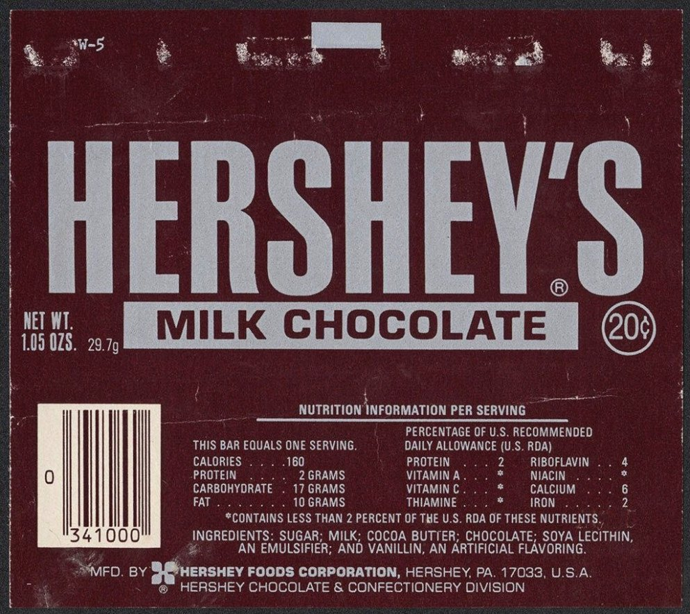 Hershey Bar Wrapper Dimensions Inspirational top 15 Trends In Hershey Bar