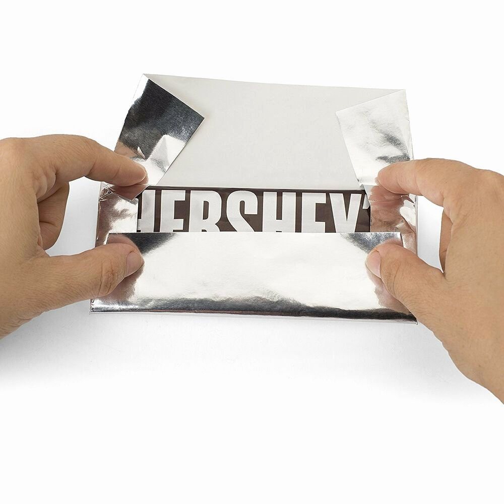 "Hershey Bar Wrapper Dimensions Luxury New Foil Wrapper Silver 6"" X 7 5"" for Hershey Bar Over"