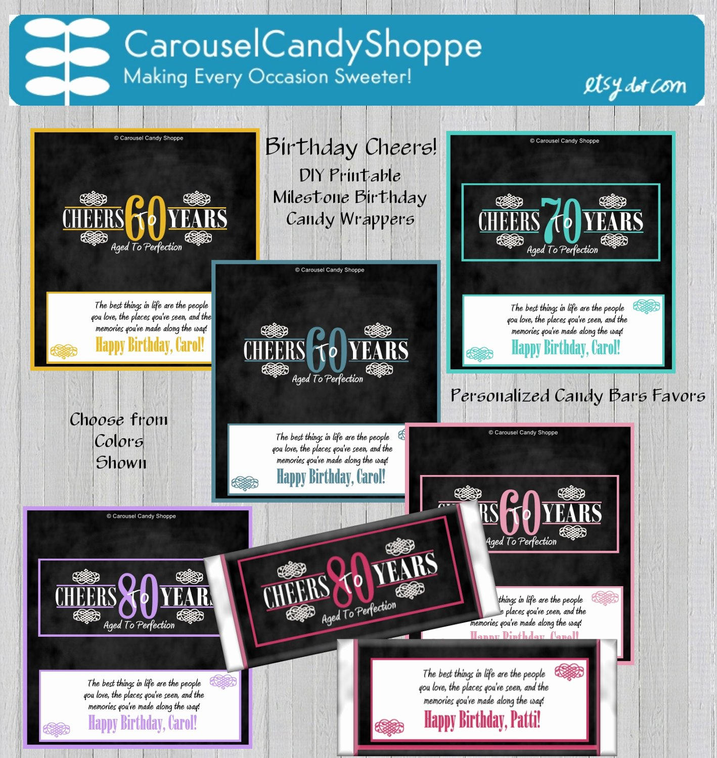 Hershey Bar Wrapper Dimensions Luxury Printable Diy Milestone Birthday Candy Bar Wrappers Party