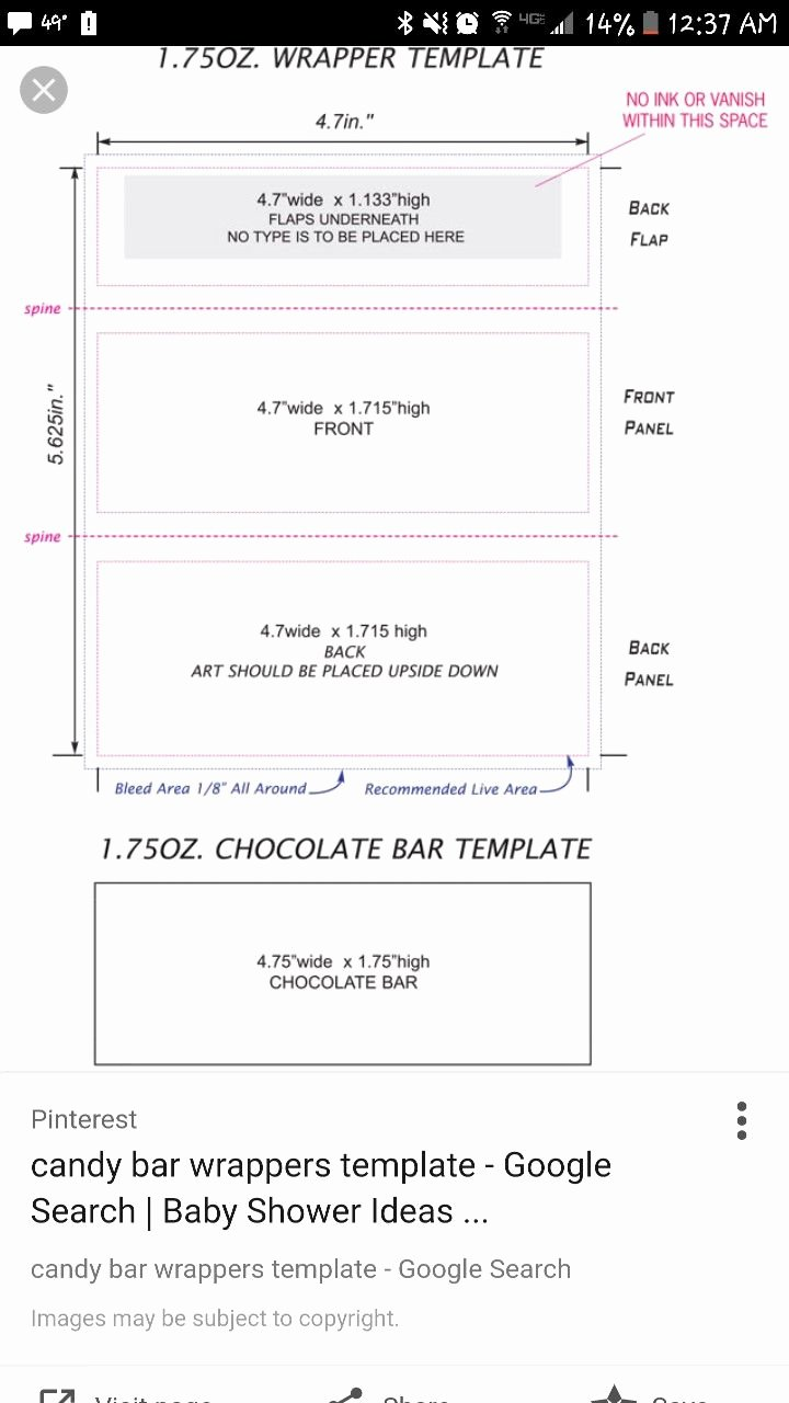 Hershey Bar Wrapper Template Free Beautiful Pin by Kelly Schnetzer On Nani & Papa S 60th