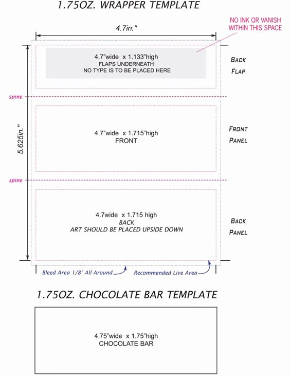 Hershey Bar Wrapper Template Free Best Of Free Candy Bar Wrapper Template Ednteeza