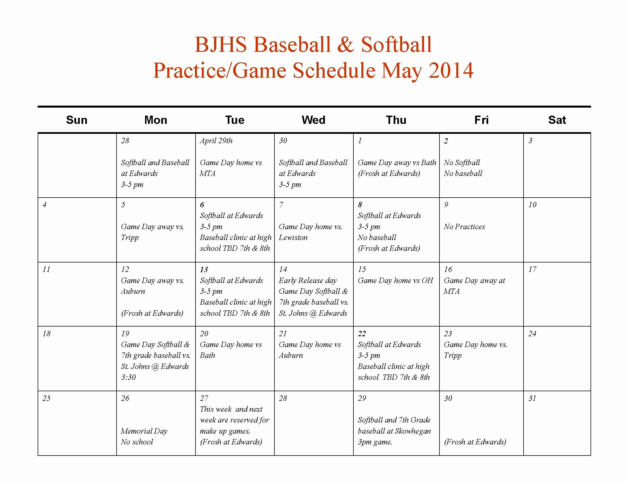 High School Football Practice Schedule Template Awesome 010 softball Practice Plan Template Baseball Awesome