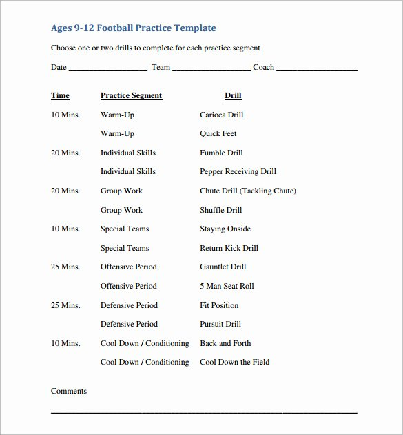 High School Football Practice Schedule Template Fresh 28 Of Football Practice Template Printable