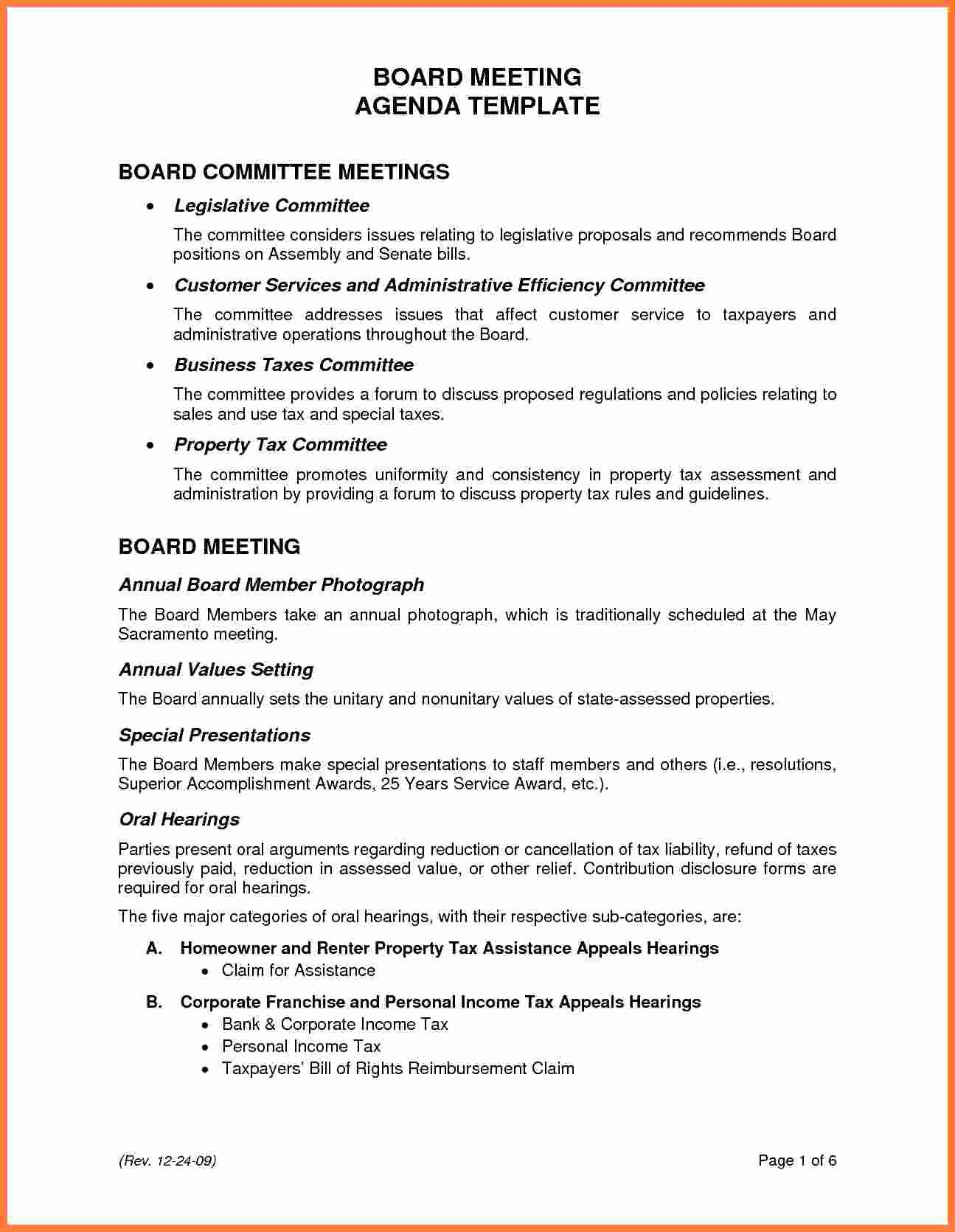 Hoa Board Meeting Minutes Template Luxury 5 Board Meeting Agenda