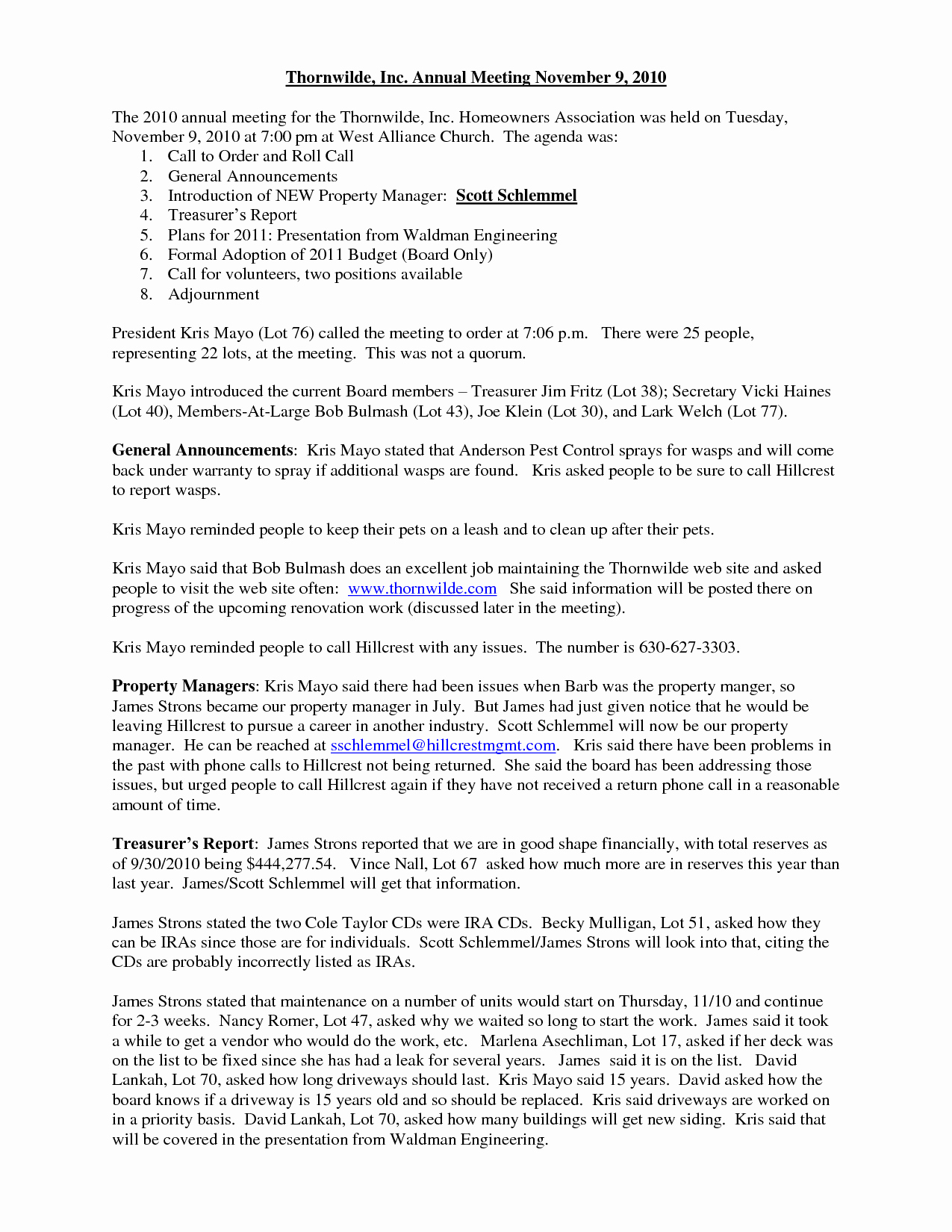 Hoa Board Meeting Minutes Template New Template Gallery Page 6