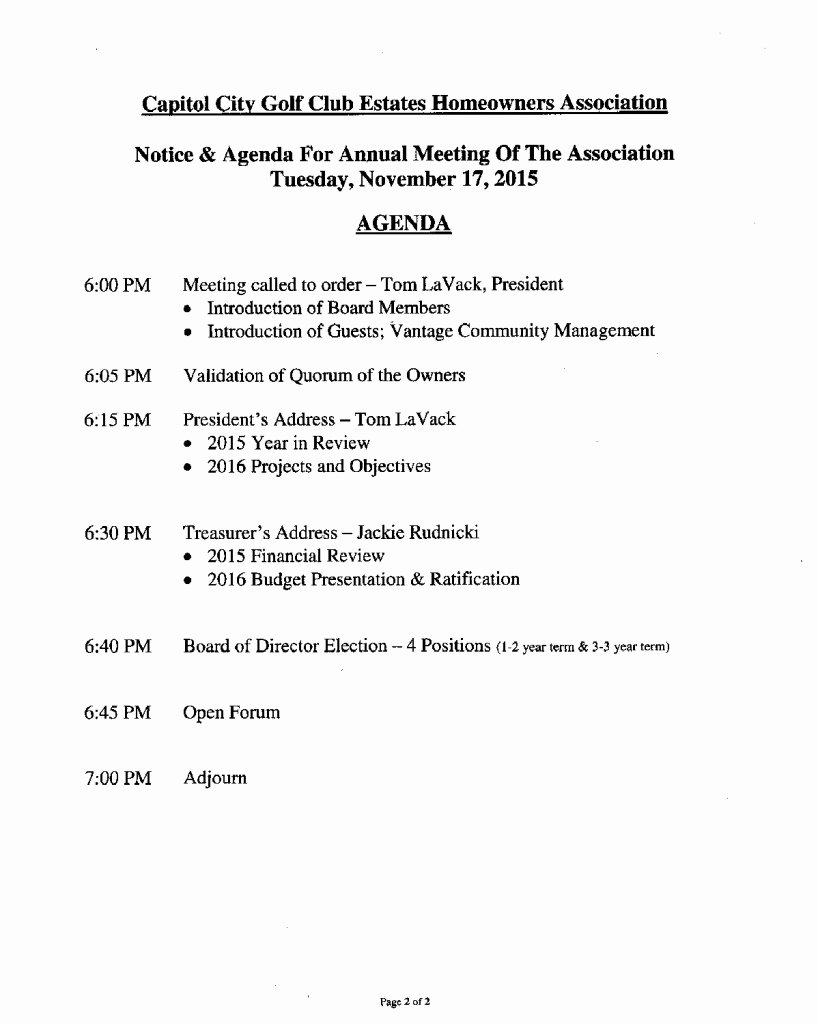 Hoa Board Meeting Minutes Template New the 2015 Annual Ccgce Hoa Meeting In Lacey Wa