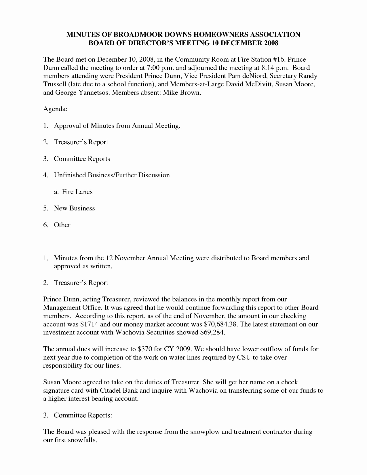 Hoa Board Meeting Minutes Template Unique 25 Of Annual Board Meeting Template