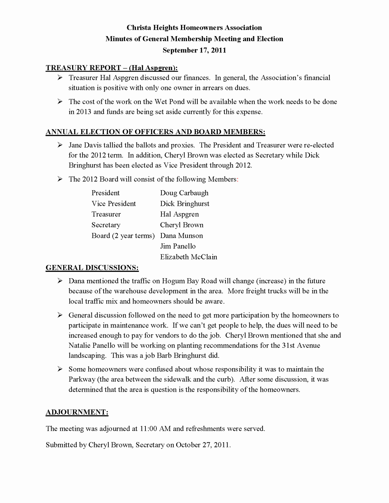 Hoa Board Meeting Minutes Template Unique 9 Of Homeowners association Minutes Template